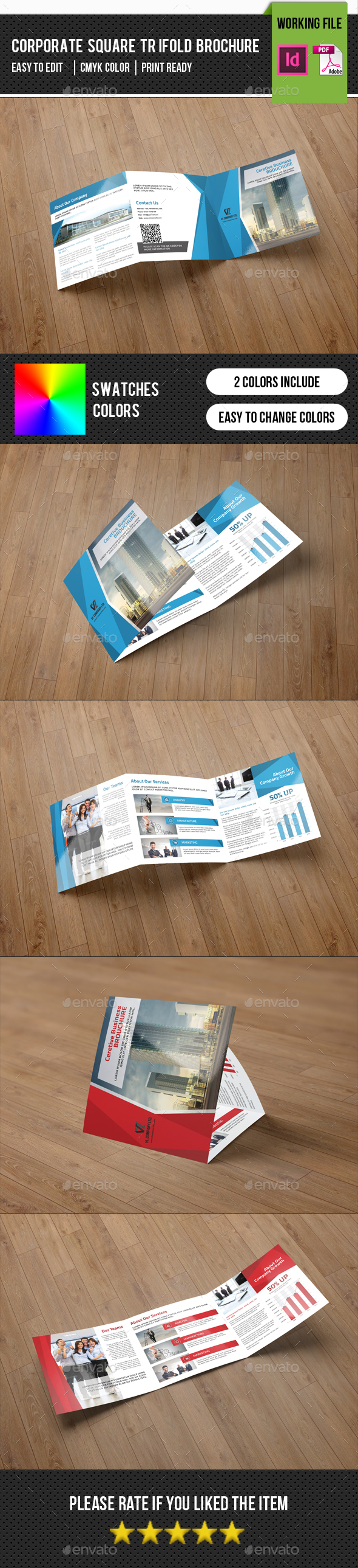 Square Trifold Corporate Brochure-v77 - Corporate Brochures