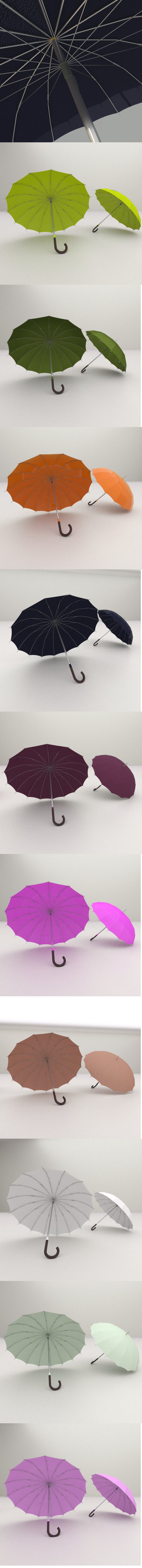 10 Umbrellas  package - 3DOcean Item for Sale