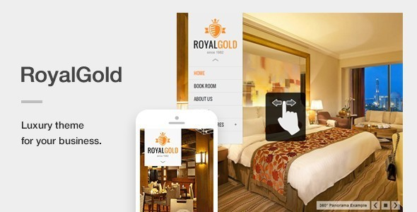 RoyalGold - A Luxury & Responsive Hotel or Resort Theme For WordPress