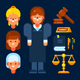 Female Judge and Her Stuff - GraphicRiver Item for Sale