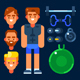 Fitness Trainer and His Stuff - GraphicRiver Item for Sale