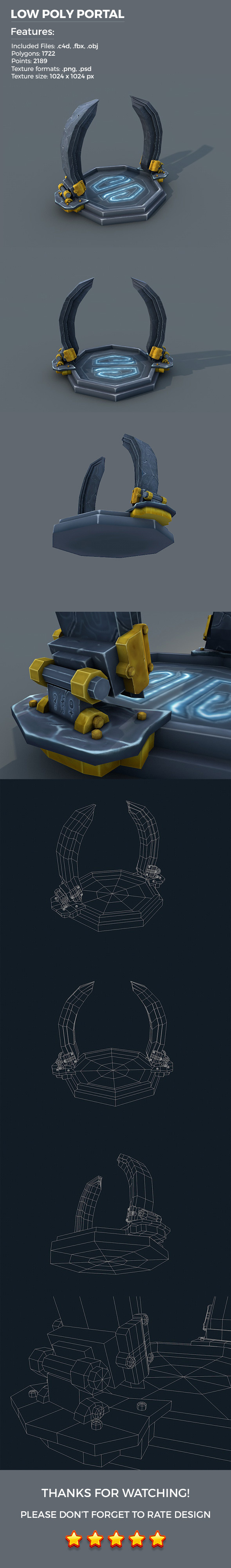 Low Poly Portal - 3DOcean Item for Sale