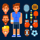 Sportsman and His Stuff - GraphicRiver Item for Sale
