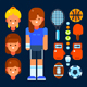 Sportswoman and Her Stuff - GraphicRiver Item for Sale