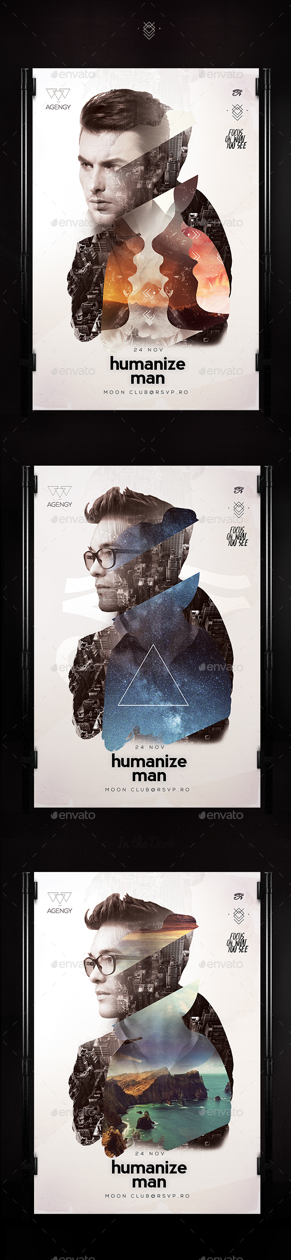 Humanize Poster - Clubs & Parties Events