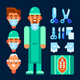 Surgeon and Surgical Tools - GraphicRiver Item for Sale