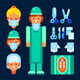 Female Surgeon and Surgical Tools - GraphicRiver Item for Sale