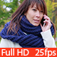 Woman Talking on the Phone in the Autumn Park - VideoHive Item for Sale
