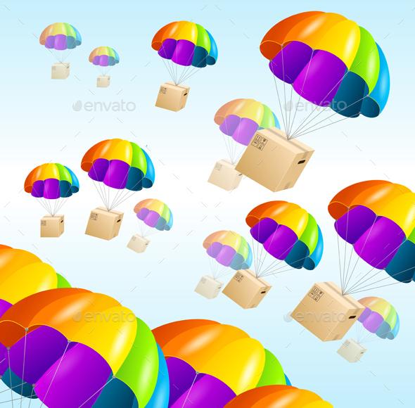 Parachute Background - Backgrounds Decorative
