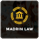 Madrin | One Page Law Firm HTML Template Nulled