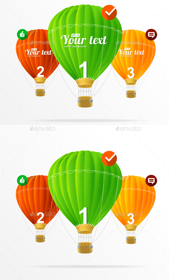 Infographics Air Balloons - Travel Conceptual