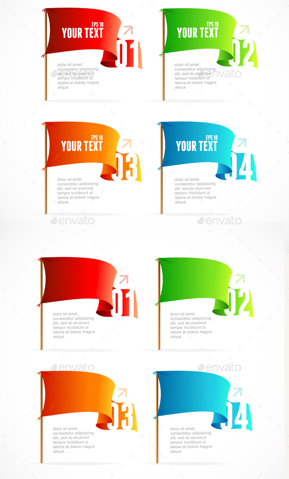 Colorful Flags Options Banner - Communications Technology