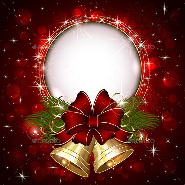 Gold Christmas Bells - Christmas Seasons/Holidays