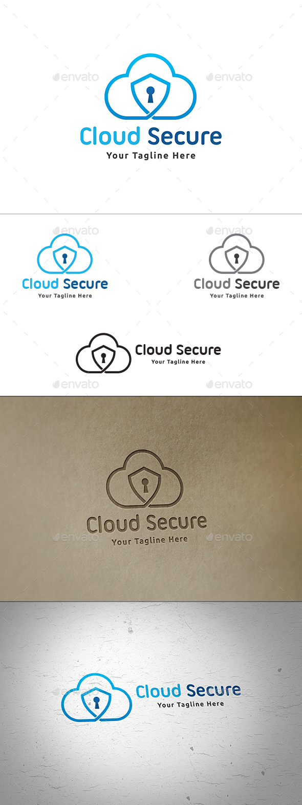 Cloud Security Logo - Symbols Logo Templates
