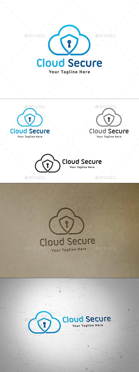 Cloud Security Logo - Symbols Logo Templates