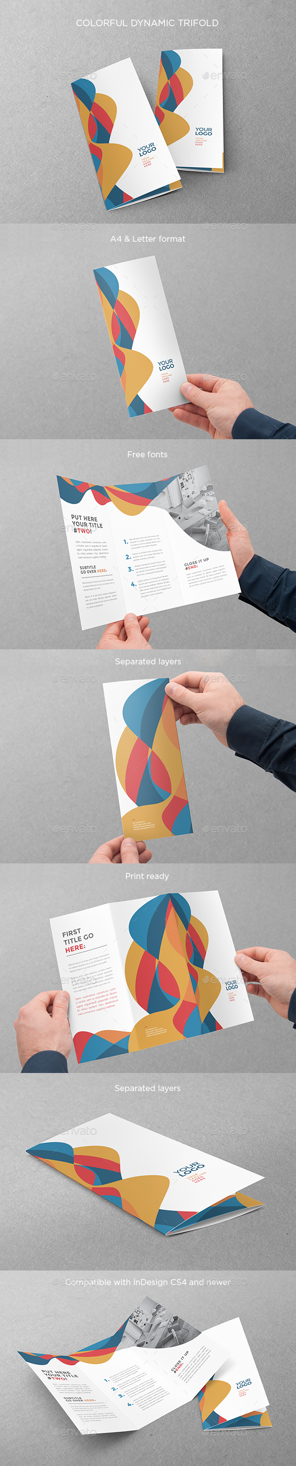 Colorful Dynamic Trifold - Brochures Print Templates