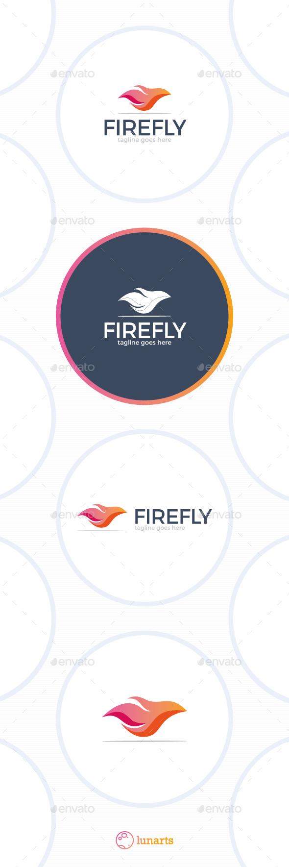 Fire Fly Logo - Symbols Logo Templates