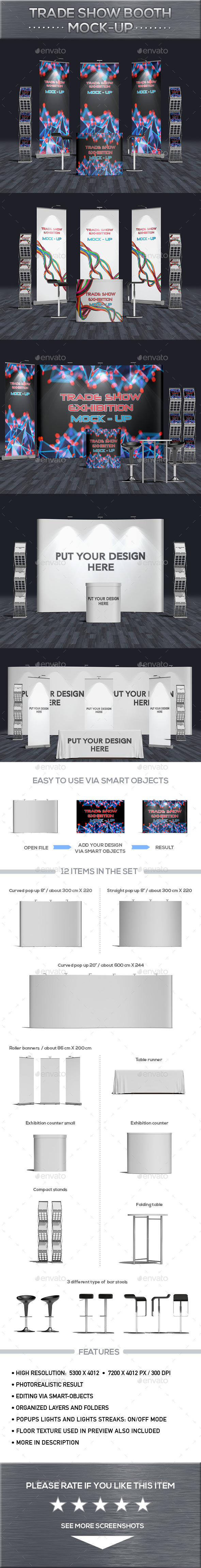 Trade Show Booth Mock-Up - Product Mock-Ups Graphics