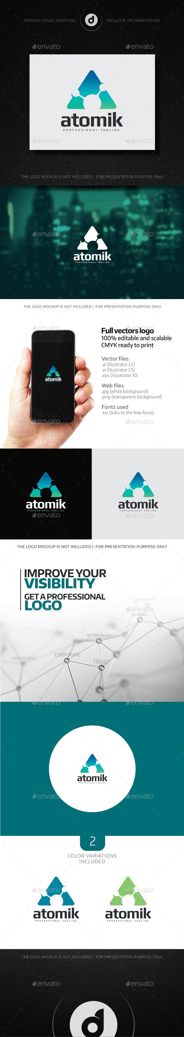 Atomik Logo - Letters Logo Templates