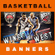 7 Facebook Banners | Basketball vol II - GraphicRiver Item for Sale
