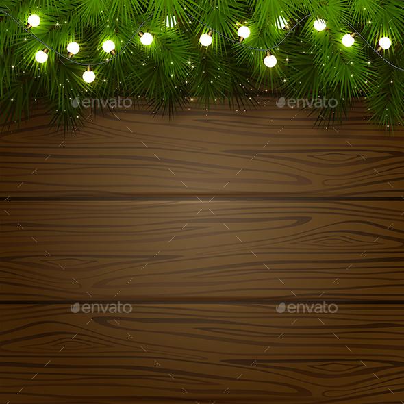Christmas Tree and Light Bulbs - Christmas Seasons/Holidays