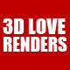 3D Love Text Renders - GraphicRiver Item for Sale