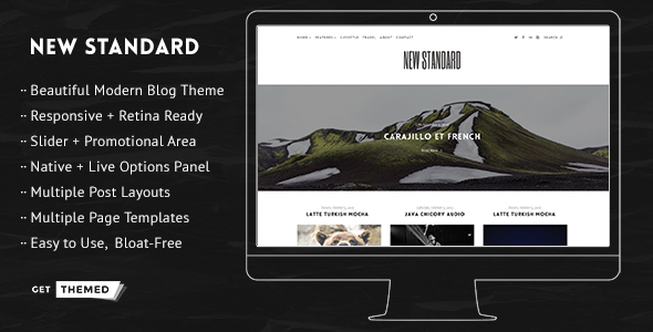 New Standard – WordPress Blog Theme