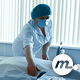 Nurse Making Medical Bed before Child Birth - VideoHive Item for Sale