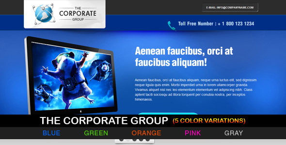 Free Download The Corporate Group - 5 variations Nulled Latest Version