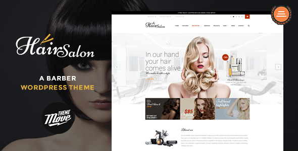 Hair Salon – A Barber WordPress Theme