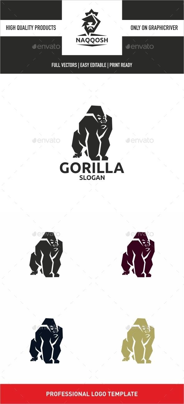 Gorilla - Animals Logo Templates