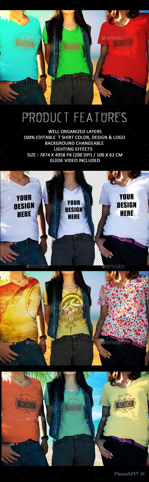 T shirt Mock-up - T-shirts Apparel