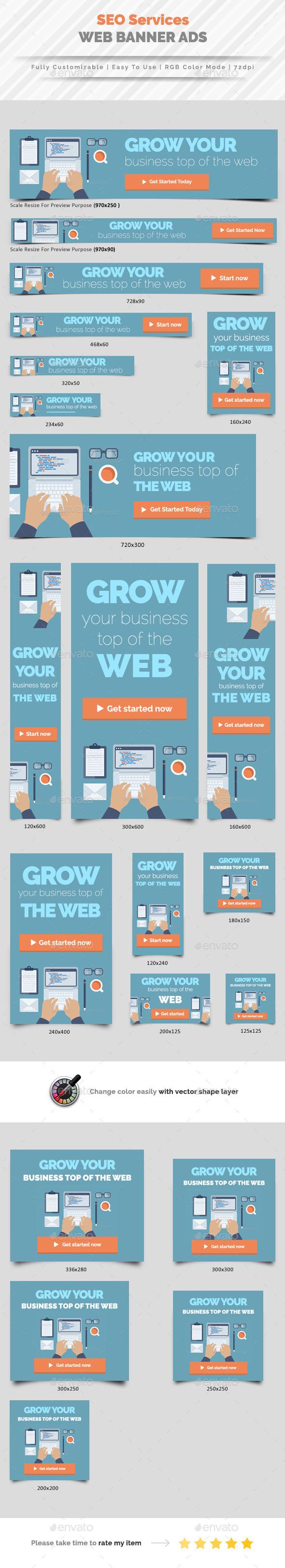 SEO Web Banner Ads Vol.2 - Banners & Ads Web Elements