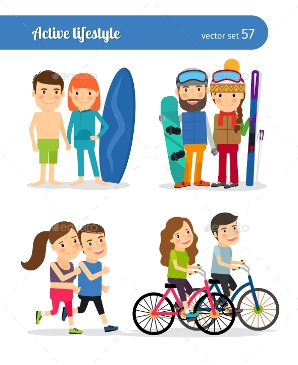 Active Lifestyle People - People Characters