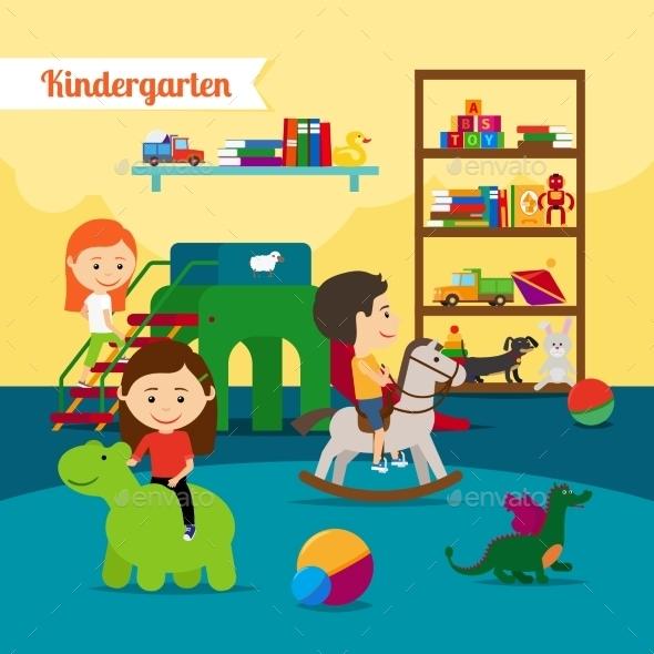 Children In Kindergarten - People Characters