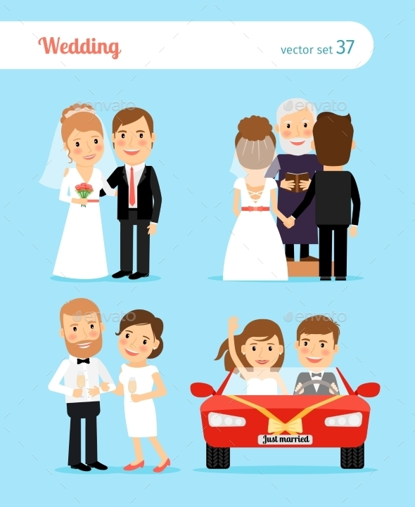 Wedding People Vector  - Weddings Seasons/Holidays