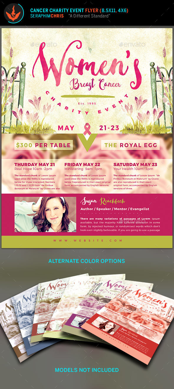 Breast Cancer Charity Event Flyer Template - Events Flyers