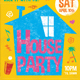 Chalk House Party Retro Flyer - GraphicRiver Item for Sale