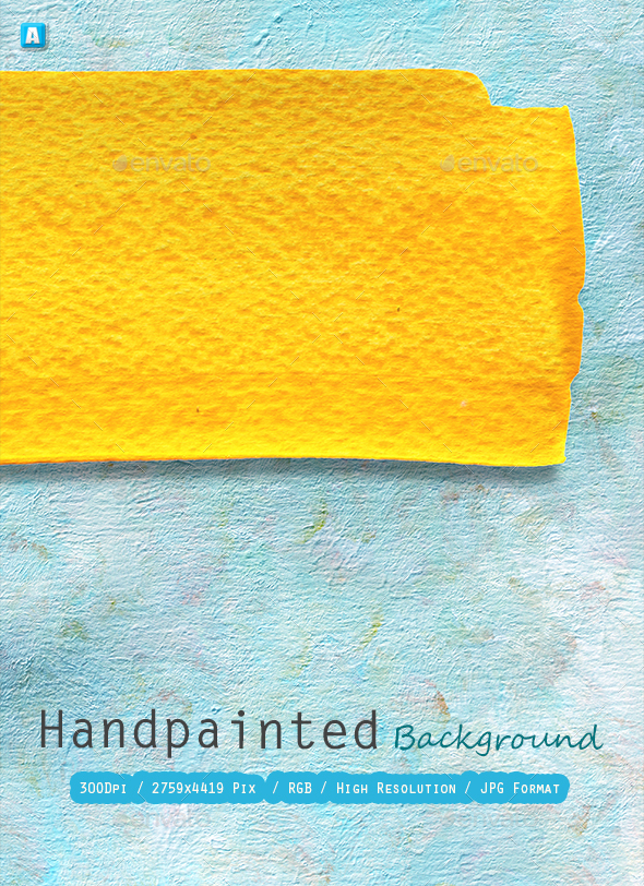 Hand Painted Background 0222 - Art Textures