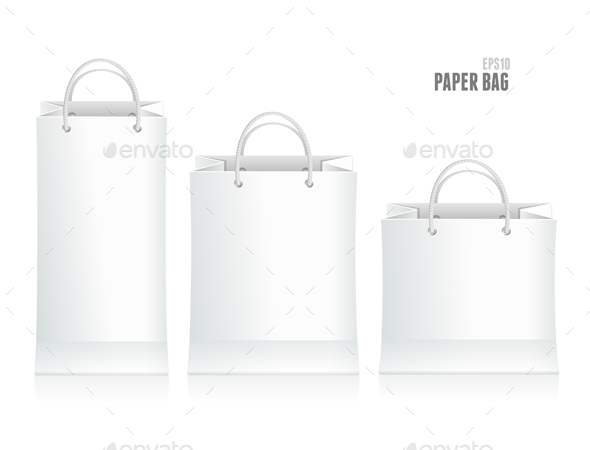 Shopping Paper Bag Template - Commercial / Shopping Conceptual
