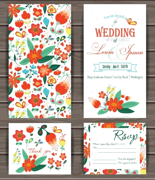 Floral Vector Card Templates. - Flowers & Plants Nature