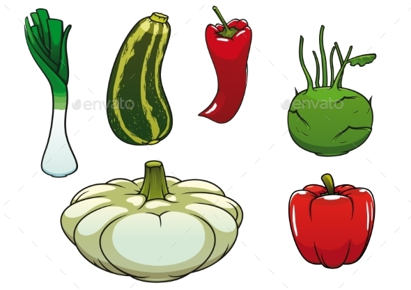 Healthy Fresh And Ripe Farm Vegetables  - Food Objects