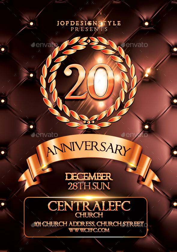 Church Anniversary Flyer/Poster By Jopdesignstyle | Graphicriver