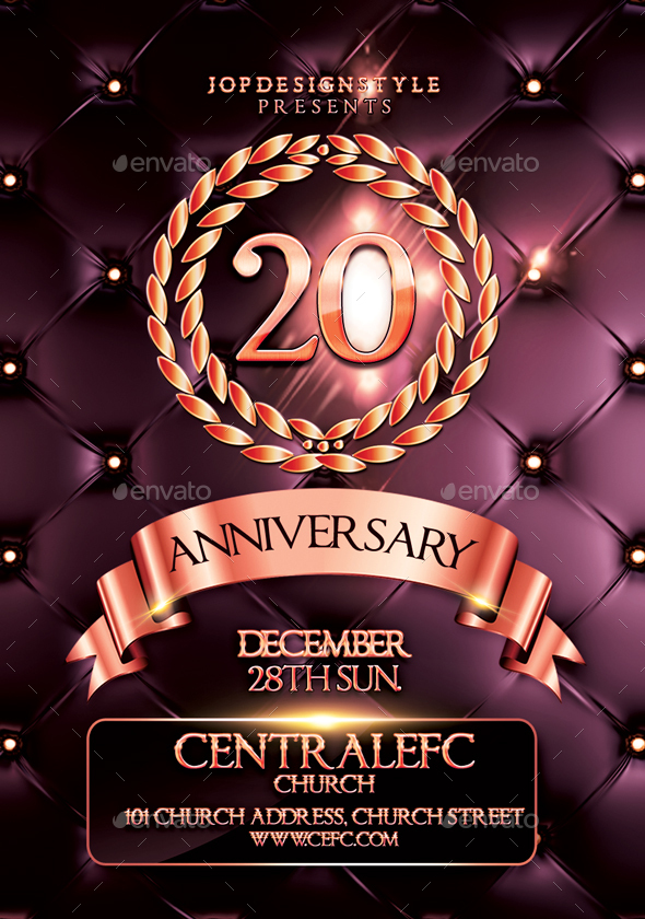 Church Anniversary FlyerPoster By Jopdesignstyle  Graphicriver
