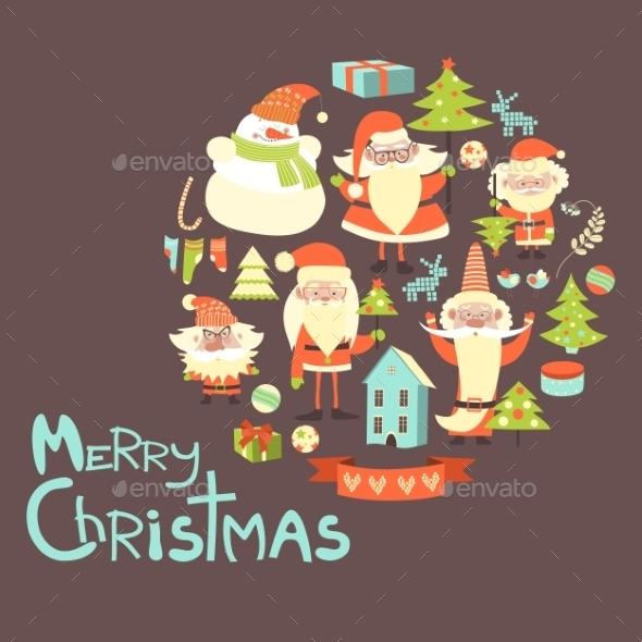 Vector Collection Of Christmas Items - Christmas Seasons/Holidays