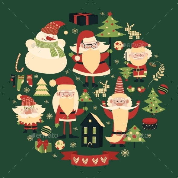 Vector Collection Of Christmas Items - Christmas Seasons/Holidays