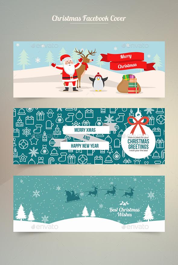 Facebook Cover Christmas - Social Media Web Elements