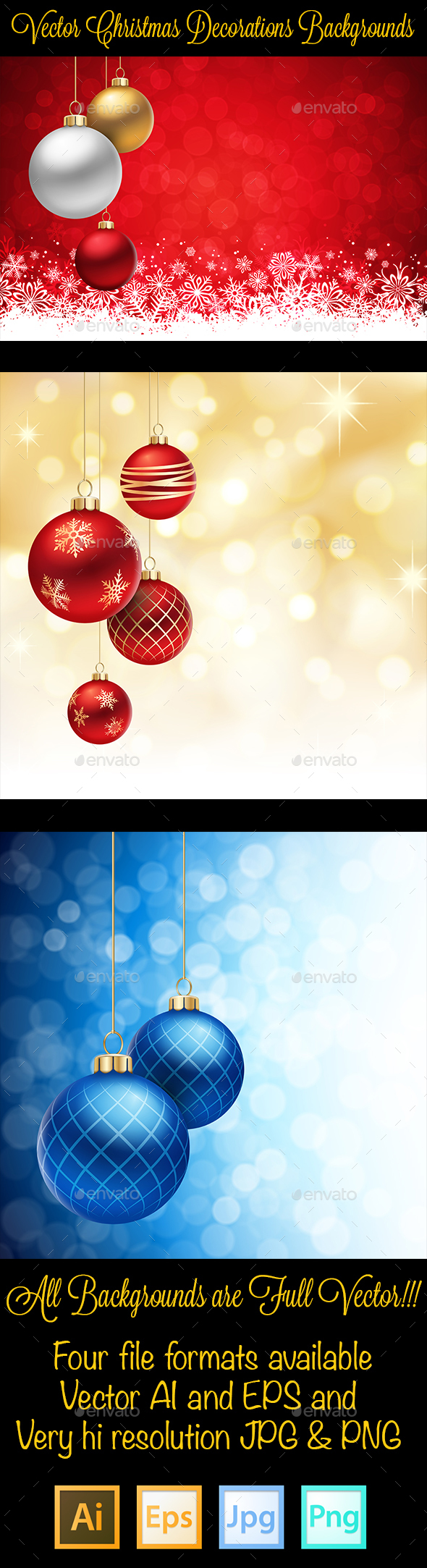 Vector Christmas Decorations Background - Christmas Seasons/Holidays