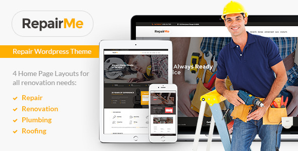 RepairMe – Construction & Renovation Theme