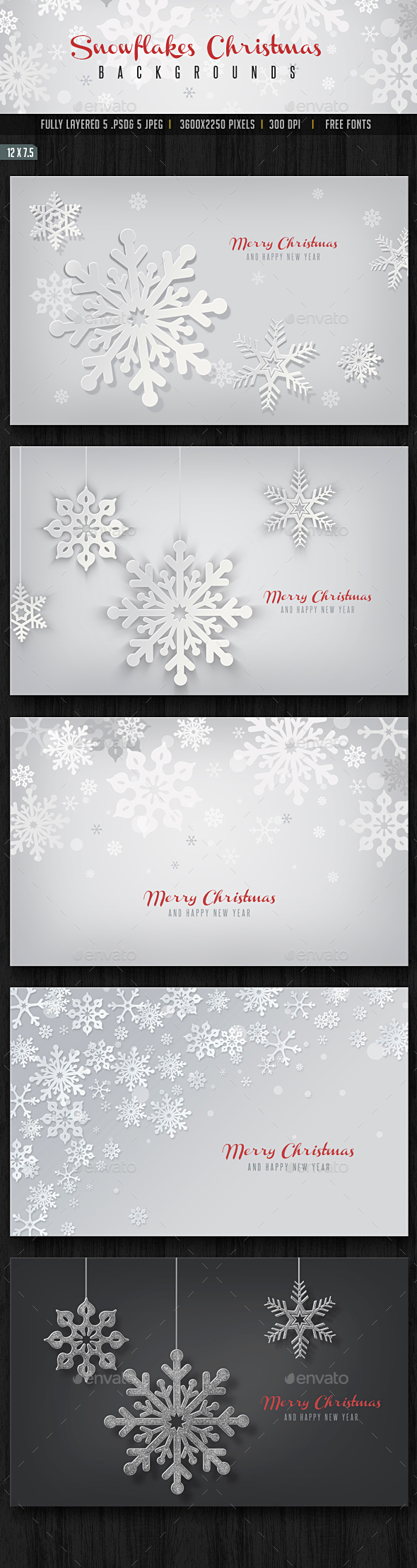 Snowflakes Christmas Backgrounds - Backgrounds Graphics
